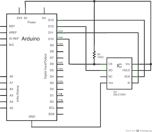 Arduino Uno with SPI (23lc1024 sram) returns always 255